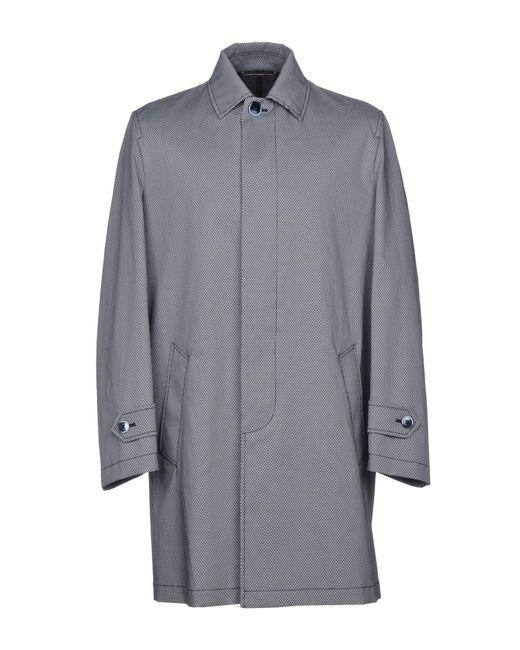Roda - Blue Overcoat for Men - Lyst