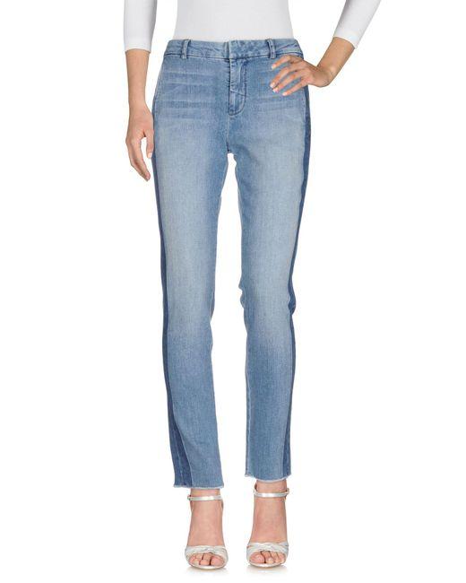 Vince - Blue Denim Trousers - Lyst