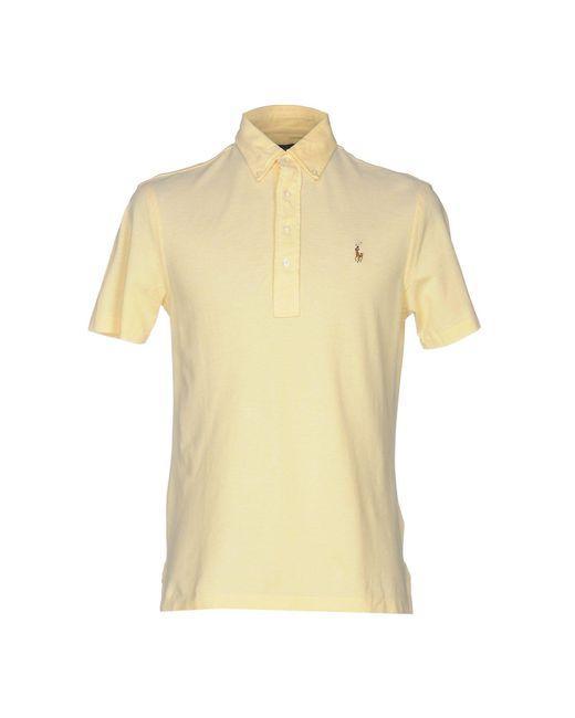 Ralph Lauren - Yellow Polo Shirts for Men - Lyst