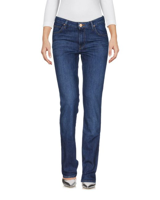 Lee Jeans - Blue Denim Trousers - Lyst