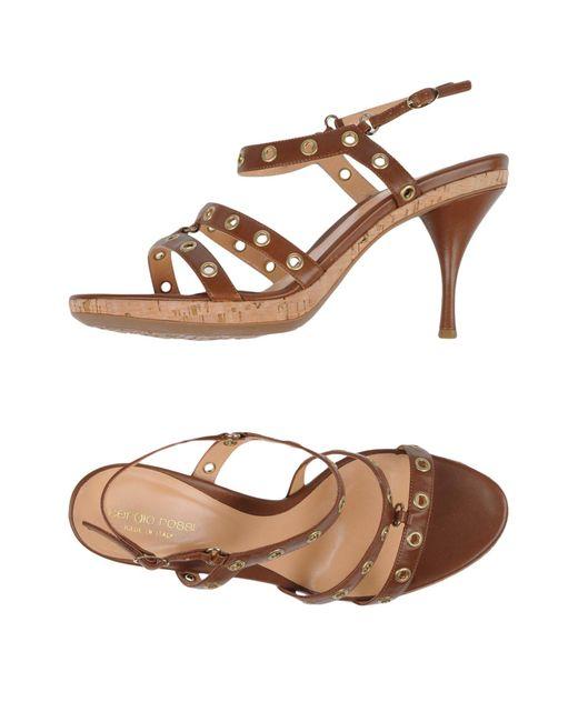 Sergio Rossi - Brown Sandals - Lyst