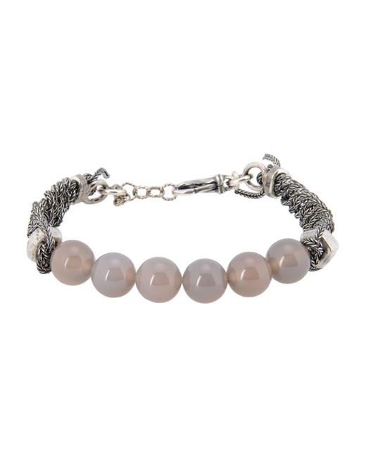 Emanuele Bicocchi | Gray Bracelet for Men | Lyst