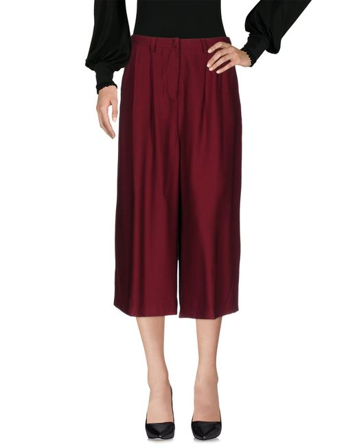 Attic And Barn - Red 3/4-length Trousers - Lyst