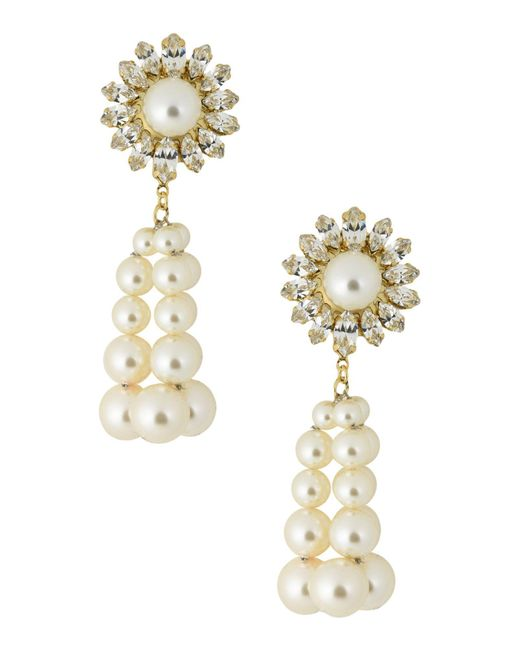Shourouk - White Earrings - Lyst