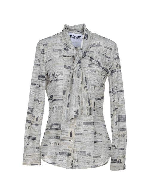 Moschino - Gray Shirt - Lyst