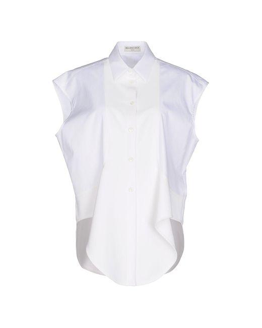 Balenciaga - White Shirt - Lyst