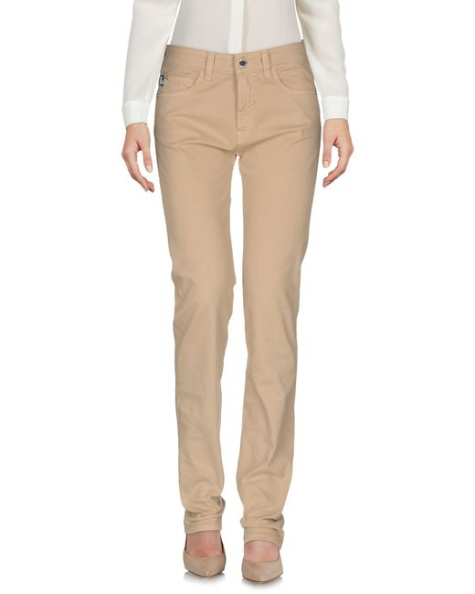 Love Moschino | Natural Casual Pants | Lyst