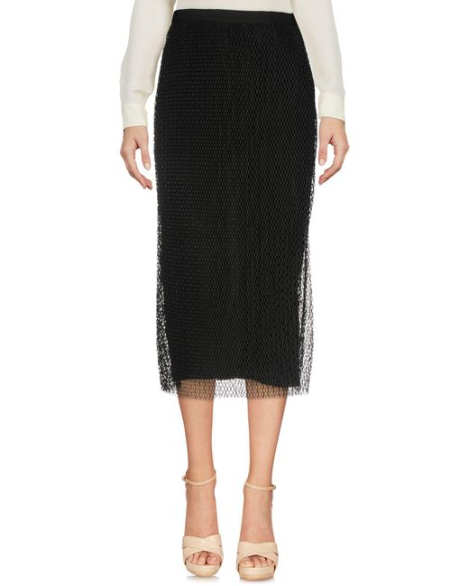 Vionnet - Black 3/4 Length Skirts - Lyst