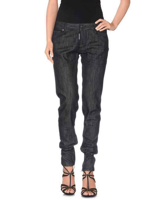 DSquared² - Black Denim Trousers - Lyst