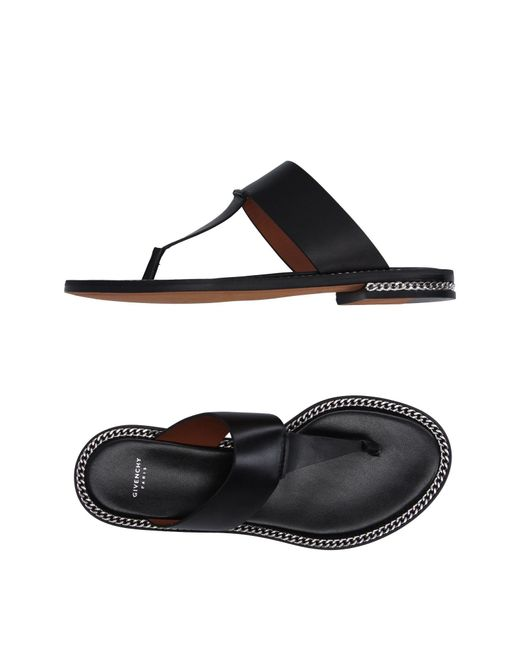 Givenchy - Black Toe Post Sandal - Lyst