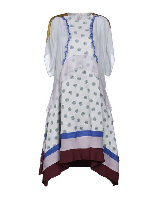 Valentino - Gray Knee-length Dress - Lyst