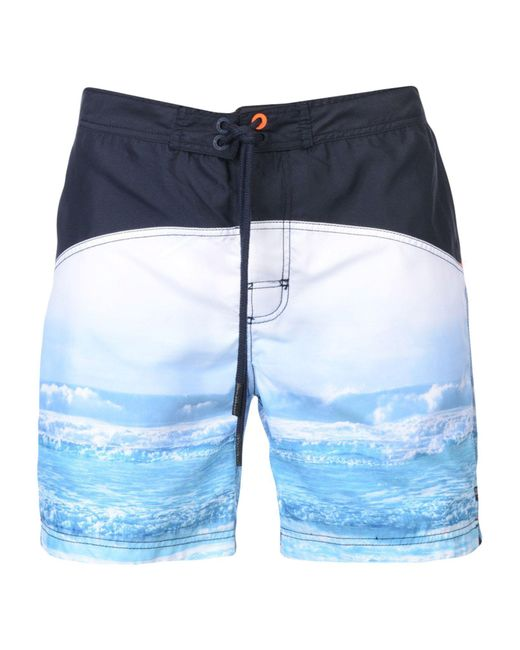 Superdry - Blue Swimming Trunks for Men - Lyst