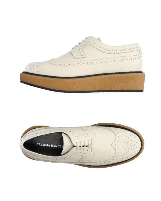 Paloma Barceló - White Lace-up Shoe - Lyst