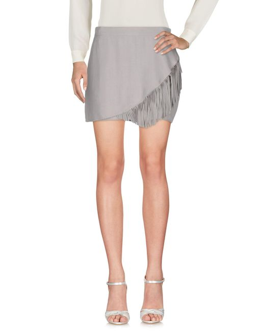 Liu Jo - Gray Mini Skirt - Lyst