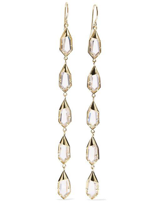 Noir Jewelry - Metallic Hue Gold-tone Cubic Zirconia Earrings - Lyst