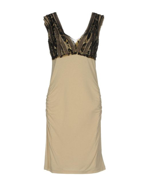Roberta Scarpa - Natural Short Dresses - Lyst