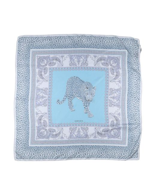 Versace - Blue Square Scarf - Lyst