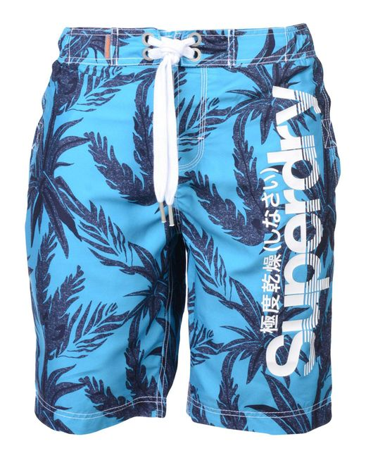 Superdry - Blue Swimming Shorts for Men - Lyst