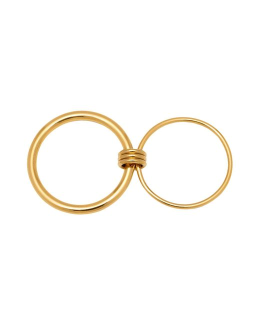 Maria Francesca Pepe | Metallic (h)oops! Three-ways Double Ring | Lyst