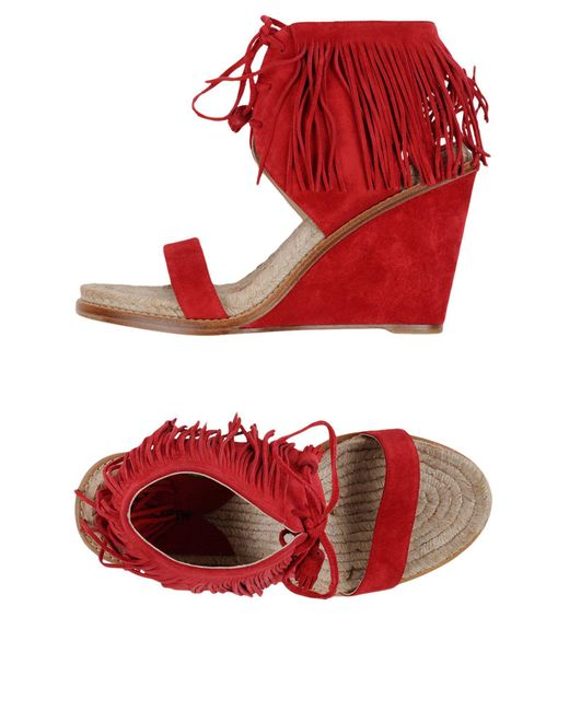 Paul Andrew - Red Sandals - Lyst