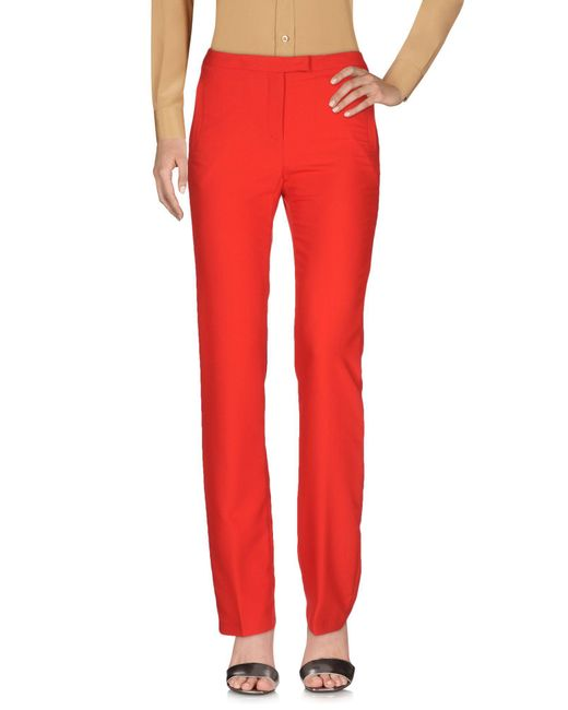 Who*s Who - Red Casual Trouser - Lyst