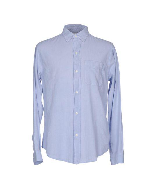 Current/Elliott - Blue Shirt for Men - Lyst