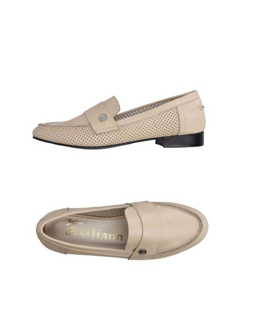 John Galliano - Natural Loafers - Lyst
