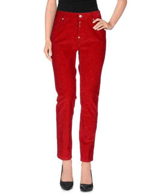 DSquared² | Red Casual Trouser | Lyst