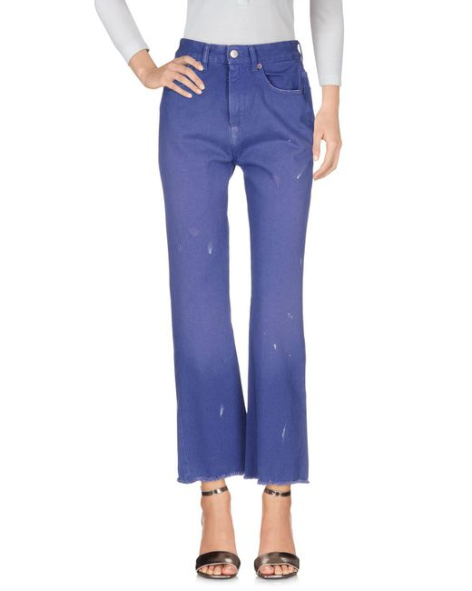 MM6 by Maison Martin Margiela - Purple Denim Pants - Lyst