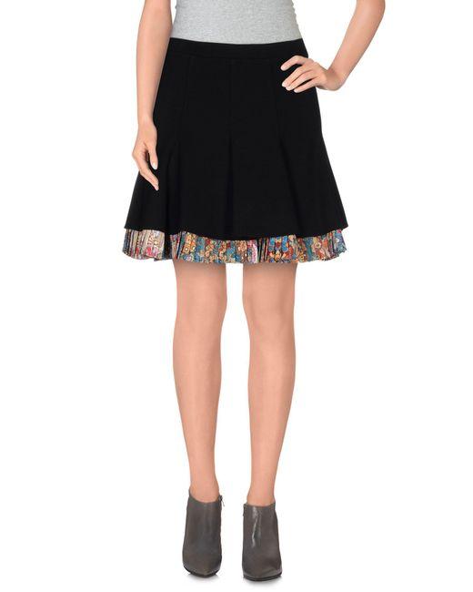 Just Cavalli - Black Mini Skirt - Lyst