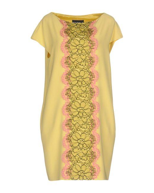 Boutique Moschino - Yellow Short Dress - Lyst