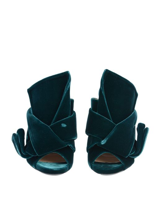 659a3f8e202 N°21 Velvet Bow Mules in Green - Save 49% - Lyst