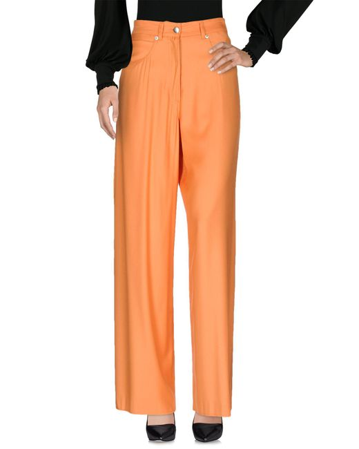 MM6 by Maison Martin Margiela - Orange Casual Pants - Lyst