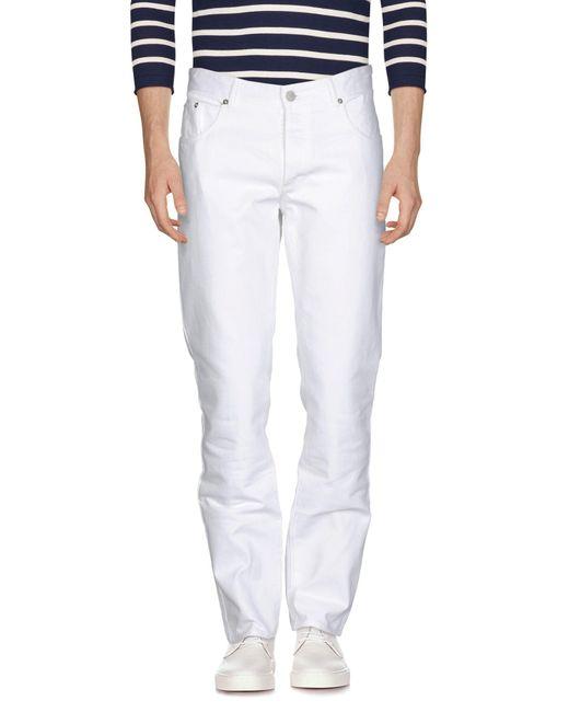 Maison Kitsuné - White Denim Pants for Men - Lyst