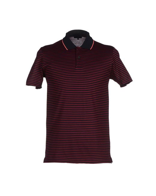 Lanvin - Red Polo Shirt for Men - Lyst