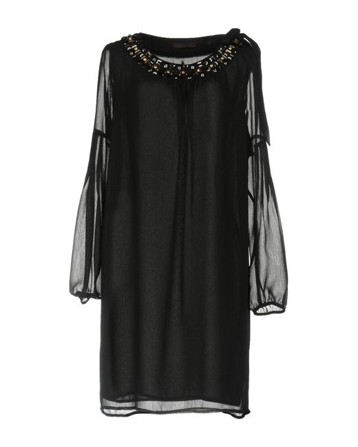 Trussardi - Black Short Dress - Lyst