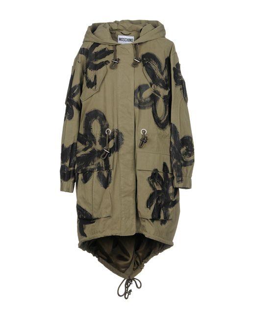 Moschino - Green Overcoats - Lyst