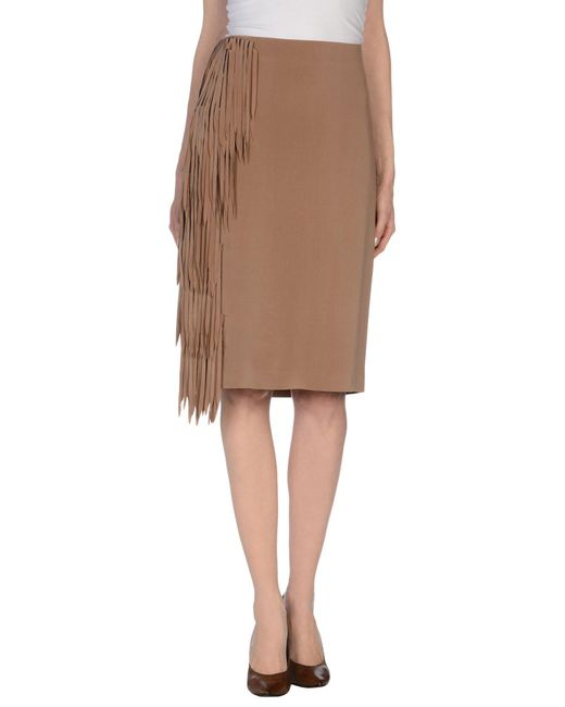 Brunello Cucinelli - Natural 3/4 Length Skirt - Lyst