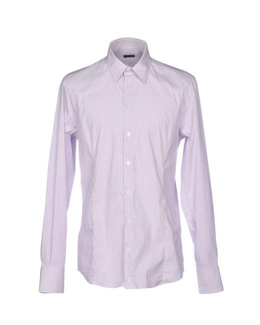 Patrizia Pepe - Purple Shirt for Men - Lyst