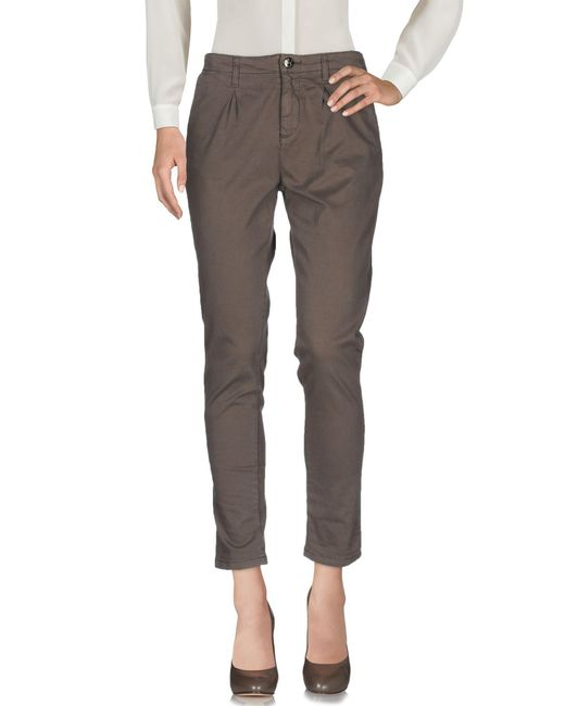 Scee By Twin-set - Gray Casual Pants - Lyst