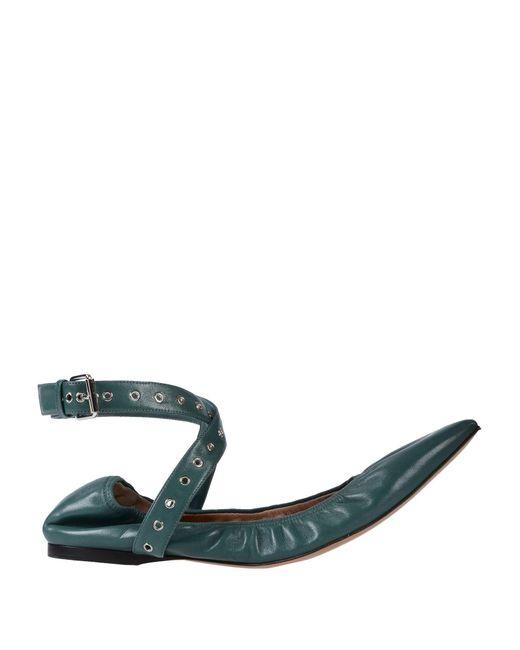 Valentino - Green Ballet Flats - Lyst