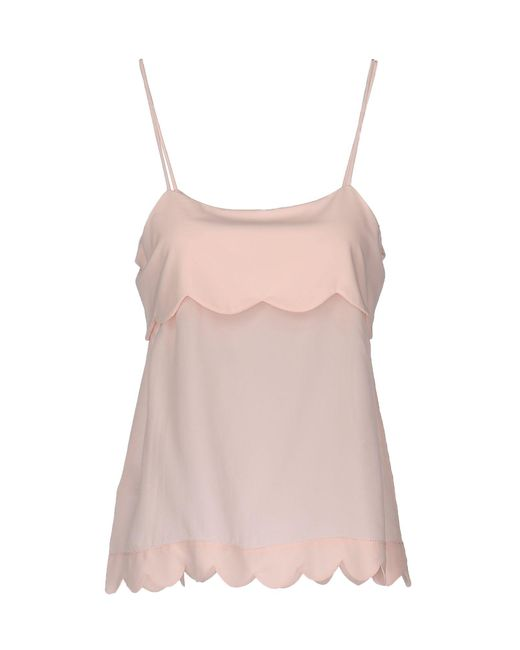 Pinko - Pink Top - Lyst
