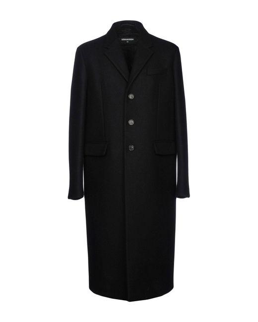 DSquared² - Black Coats for Men - Lyst