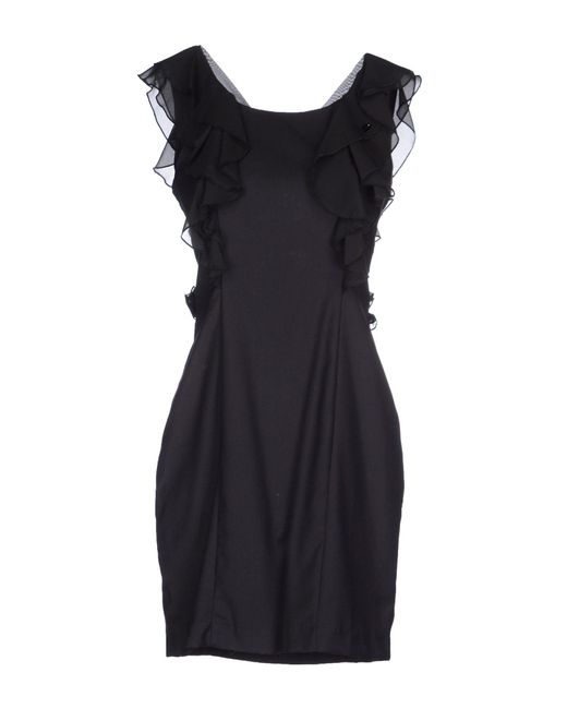 GAUDI   Black Short Dress   Lyst