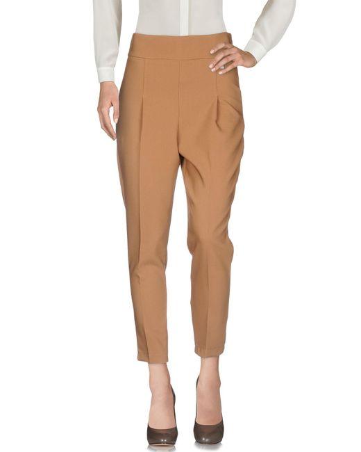 Souvenir Clubbing - Brown Casual Pants - Lyst