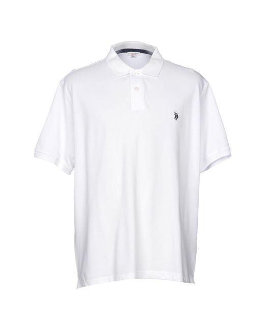 U.S. POLO ASSN. - White Polo Shirt for Men - Lyst