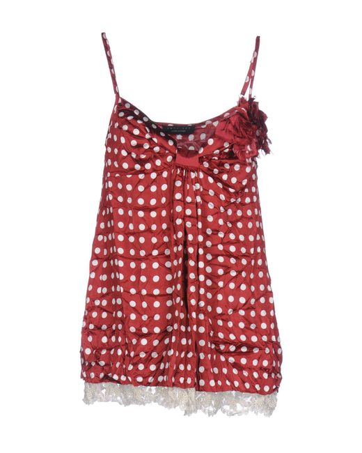 Twin Set - Red Top - Lyst