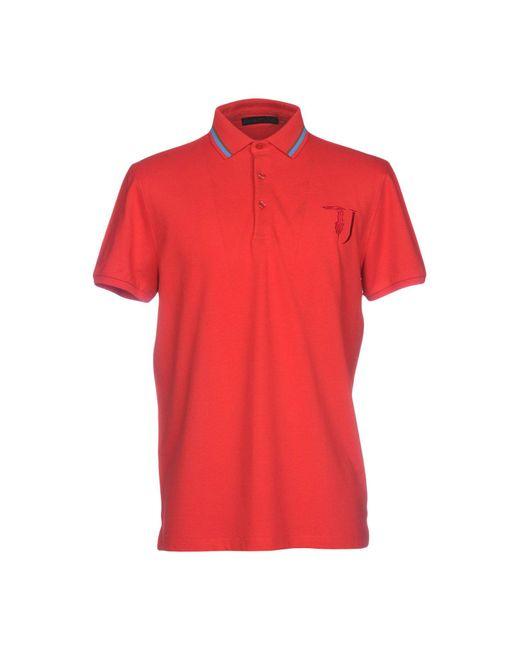 2981e90d3b88 Trussardi - Red Polo Shirt for Men - Lyst ...