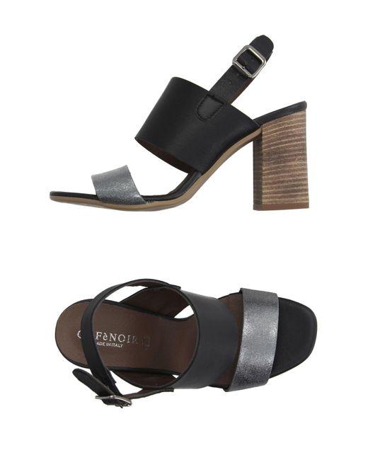 CafeNoir - Metallic Sandals - Lyst