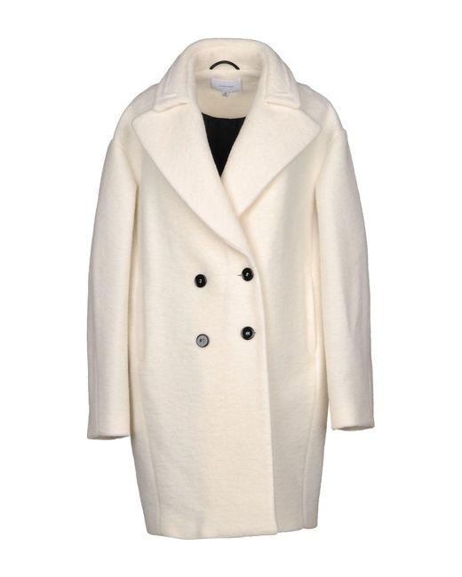 Carven - White Coat - Lyst